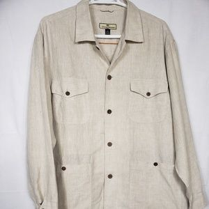 Tommy Bahama Linen Button Up Shirt Size 2XL